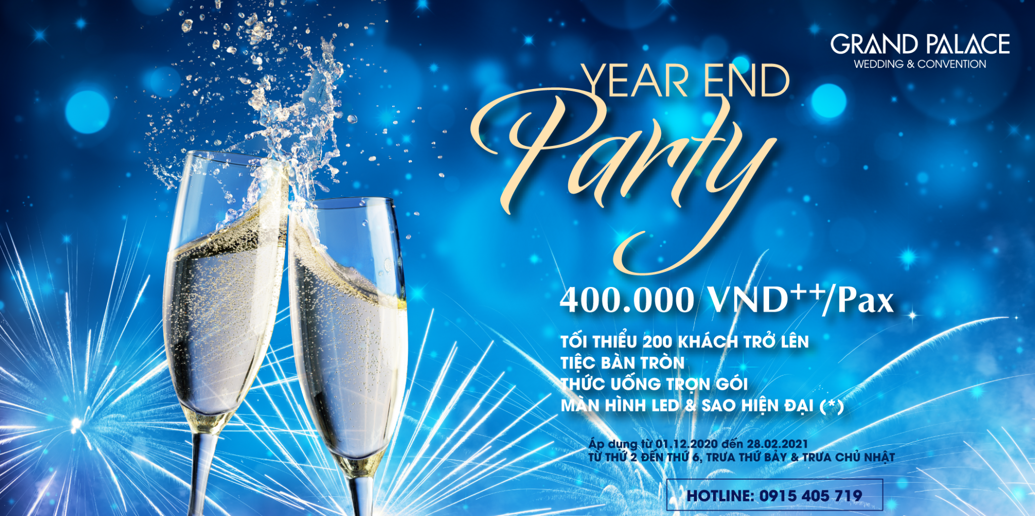 YEAR END PARTY - CHỈ TỪ 400.000VND++/PAX